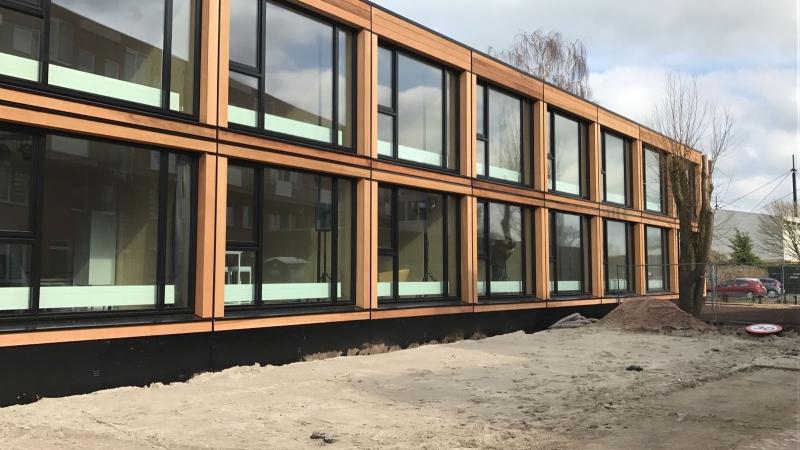 Tijdelijke, duurzame woonstudio's in Leiden